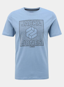 Svetlomodré tričko s potlačou Jack & Jones Complete