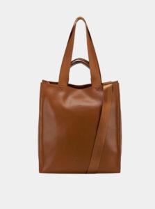 Hnedá kožená kabelka Smith & Canova Tote