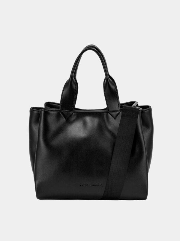 Čierna kožená kabelka Smith & Canova Jensen