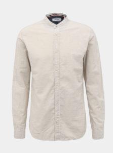 Krémová košeľa s prímesou ľanu Jack & Jones Summer