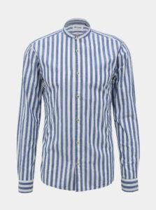 Modrá-biela pruhovaná slim fit košeľa ONLY & SONS Mattew