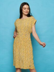 Žlté kvetované šaty Tranquillo Sua