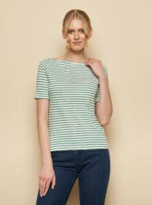 Zeleno-biele pruhované tričko Tranquillo Aja