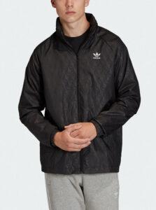 Čierna pánska vzorovaná bunda adidas Originals