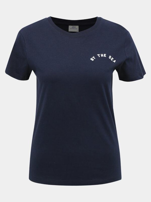 Tmavomodré tričko Jacqueline de Yong Happy Live