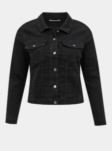 Čierna rifľová bunda ONLY CARMAKOMA Wespa