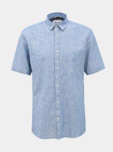 Modrá ľanová košeľa ONLY & SONS Caiden