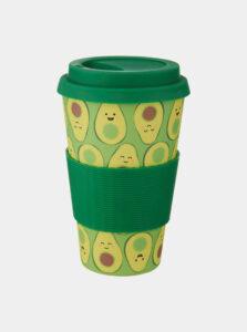 Zelený vzorovaný cestovný hrnček Sass & Belle Happy Avocado