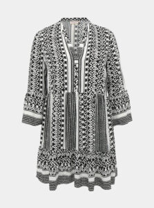 Bielo-čierne vzorované šaty ONLY CARMAKOMA