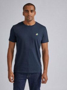 Tmavomodré tričko s výšivkou Burton Menswear London