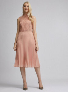 Ružové midišaty Dorothy Perkins
