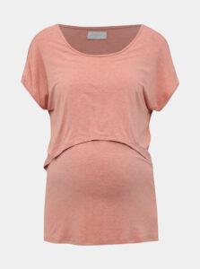 Ružové tehotenské/dojčiace tričko Mama.licious Jumping