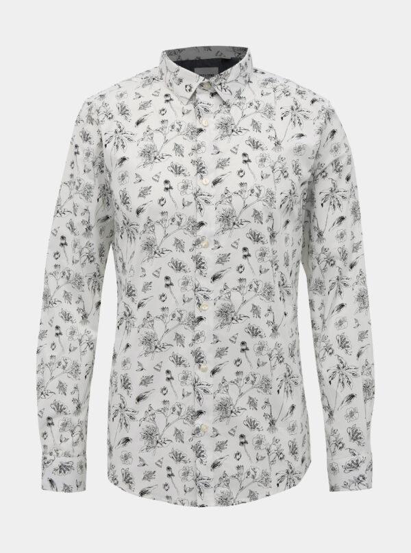 Biela kvetovaná košeľa ONLY & SONS Hogan