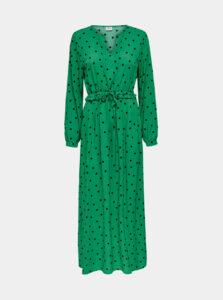 Zelené bodkované maxišaty Jacqueline de Yong Susie