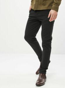 Čierne slim fit nohavice Lindbergh