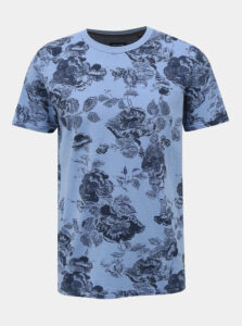 Modré kvetované tričko Jack & Jones Caleb