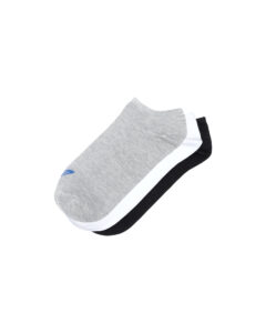 adidas Originals Trefoil Liner Ponožky 3 páry Čierna Biela Šedá