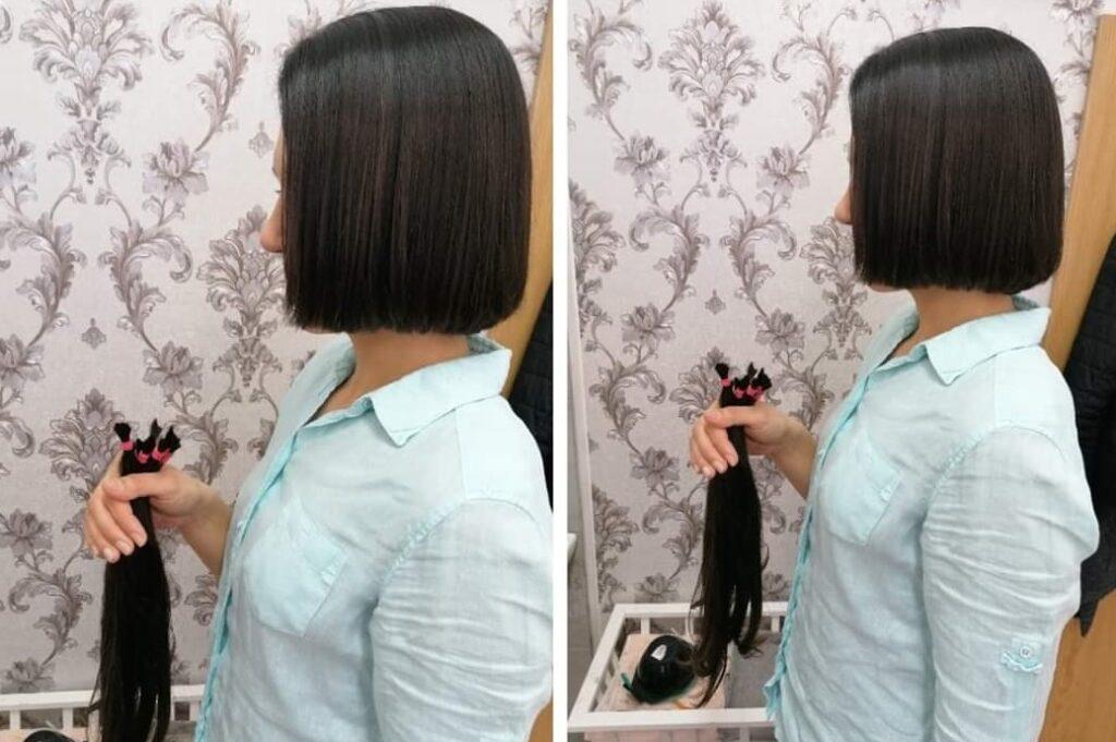 Ostrihané vlasy na darovanie