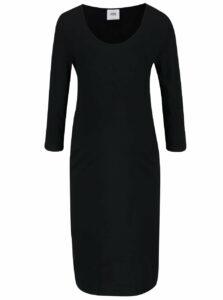 Čierne tehotenské šaty s 3/4 rukávom Mama.licious Lea