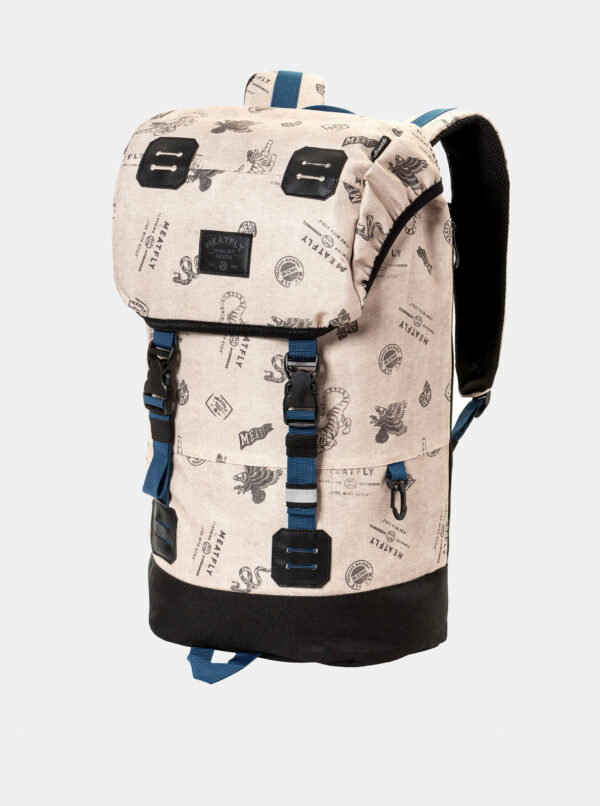 Béžový batoh  s pláštenkou Meatfly 26 l