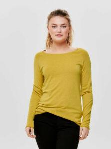 Žltý tenký basic sveter ONLY Mila