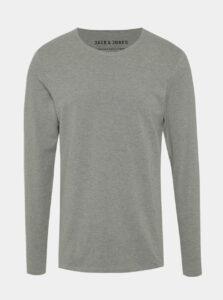 Sivé basic tričko s dlhým rukávom Jack & Jones Basic