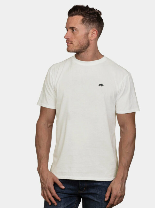 Biele basic tričko Raging Bull