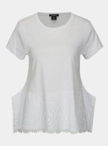 Biela blúzka s madeirou DKNY