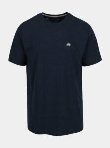 Tmavomodré basic tričko s výšivkou loga Raging Bull