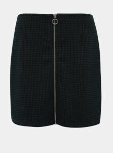 Čierno-zelená kockovaná sukňa VERO MODA Cisse