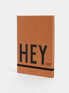 Oranžový týždenný diár A5 na rok 2020 Design Letters