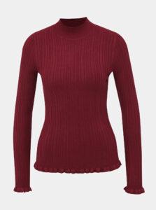 Vínový sveter so stojáčikom Miss Selfridge