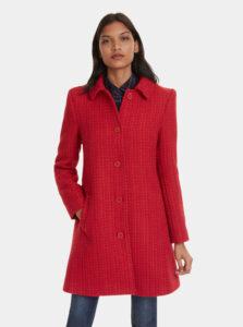 Červený vlnený kabát Desigual Noa