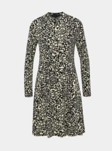 Béžovo-černé šaty s gepardím vzorom Dorothy Perkins