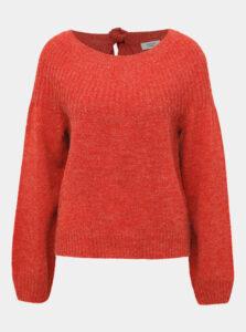 Červený žíhaný sveter s priestrihom Jacqueline de Yong Olivia