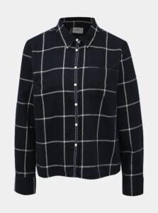 Tmavomodrá kockovaná košeľa Jacqueline de Yong Evita