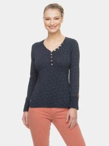 Tmavomodré dámske vzorované tričko Ragwear Pinch