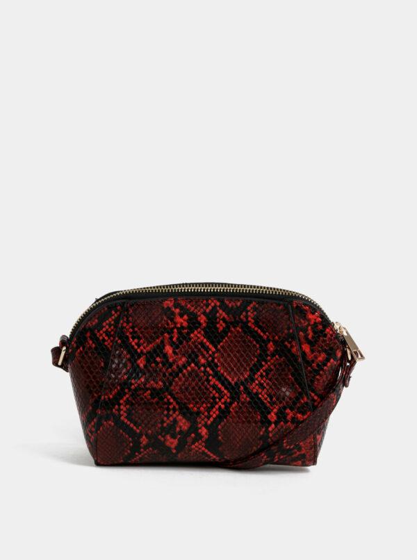 Červená crossbody kabelka s hadím vzorom Dorothy Perkins