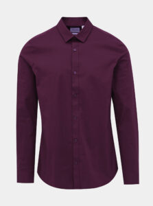 Vínová slim fit košeľa ONLY & SONS Alfredo