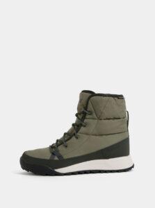 Kaki dámske vodeodolné outdoorové zimné topánky adidas Performance Terreex Choleah