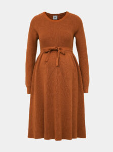 Hnedé tehotenské svetrové šaty Mama.licious Newzoe