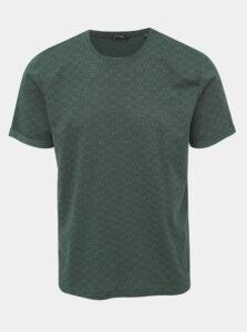 Tmavozelené vzorované tričko ONLY & SONS Tituz