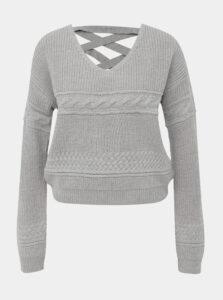 Šedý sveter TALLY WEiJL