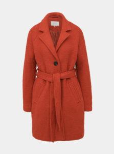 Červený vlnený kabát VILA