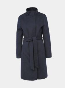Tmavomodrý vlnený kabát Selected Femme