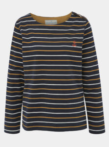 Tmavomodré pruhované tričko Brakeburn