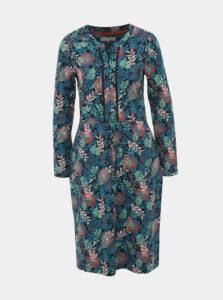 Tmavomodré vzorované šaty Brakeburn