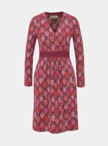 Tmavoružové vzorované šaty Brakeburn