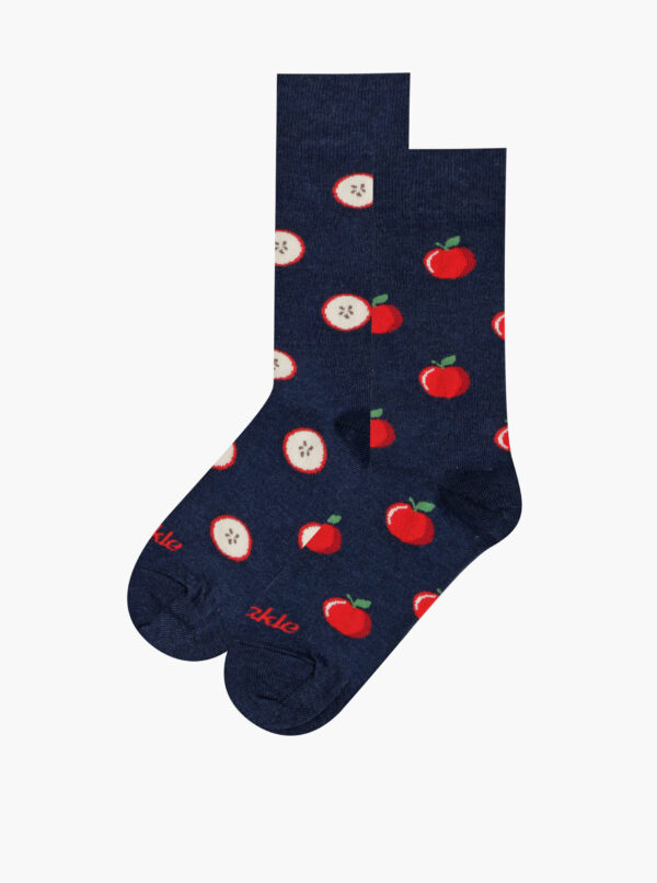 Tmavomodré vzorované ponožky Fusakle Jablko