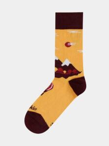 Oranžové vzorované ponožky Fusakle Na horach
